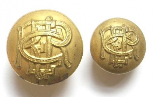 Ceylon Railway Engineer Regiment buttons