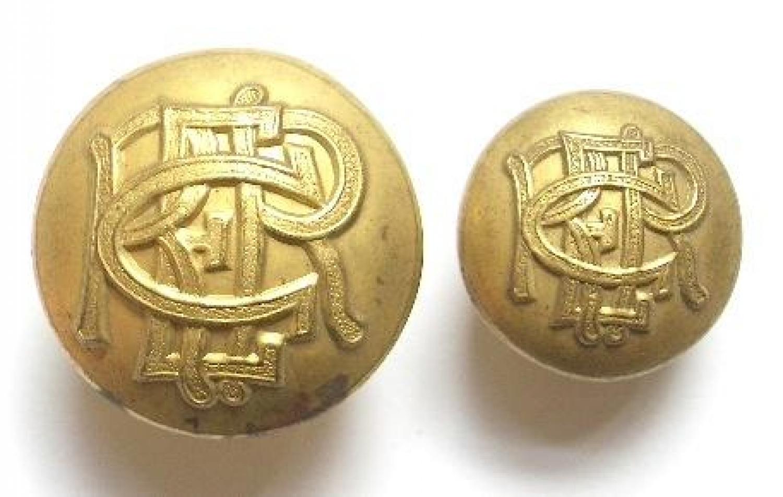 Ceylon Railway Engineer Regiment buttons