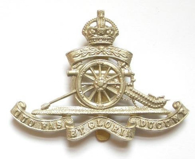 Territorial Artillery OR's cap badge