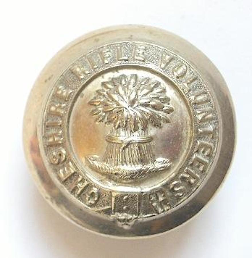 Cheshire Rifle Volunteers Victorian button