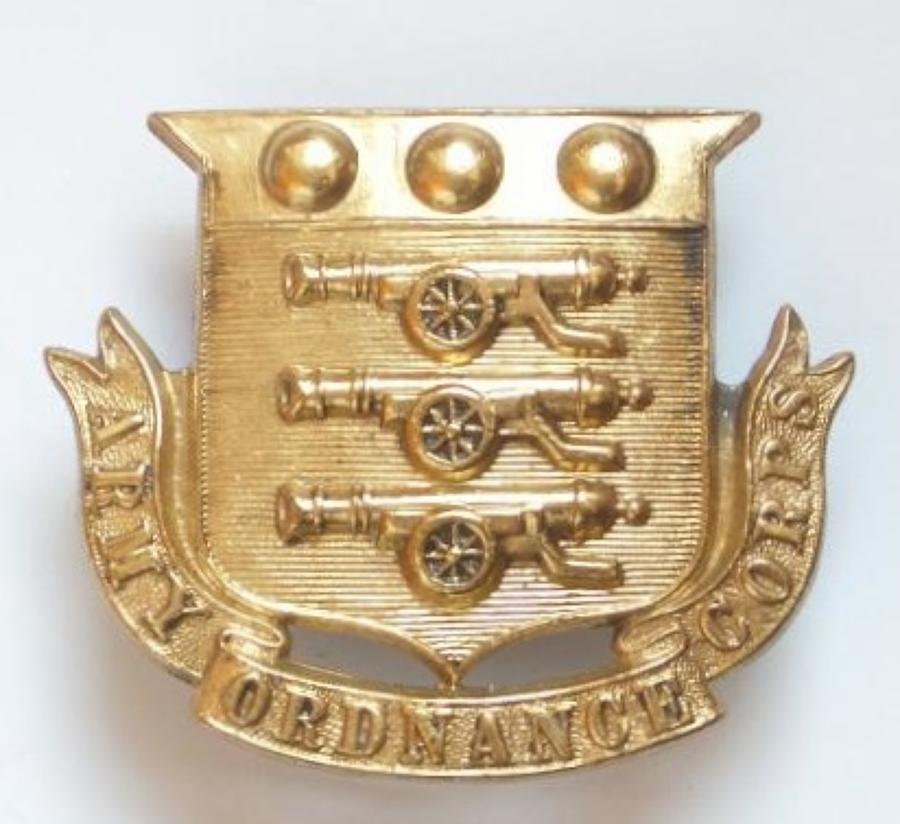 Army Ordnance Corps large Victorian cap badge