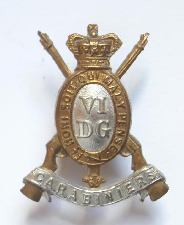 6th Dragoon Guards Victorian cap badge
