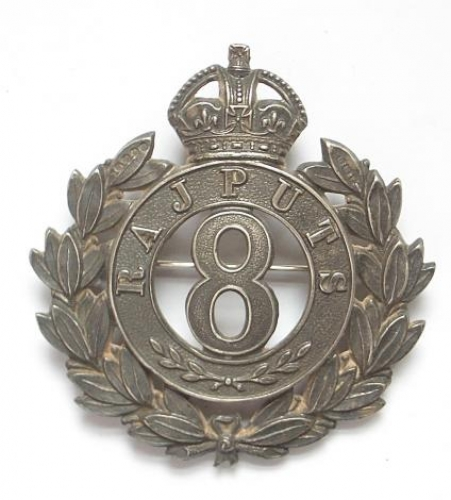 8th Rajputs Officer's 1919 HM silver badge