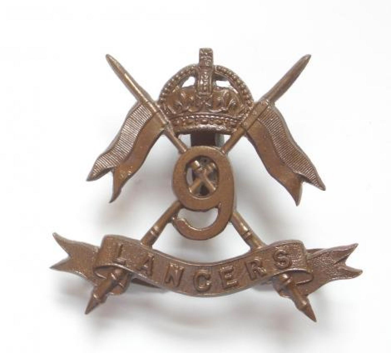 9th (Queen's Royal) Lancers OSD cap badge