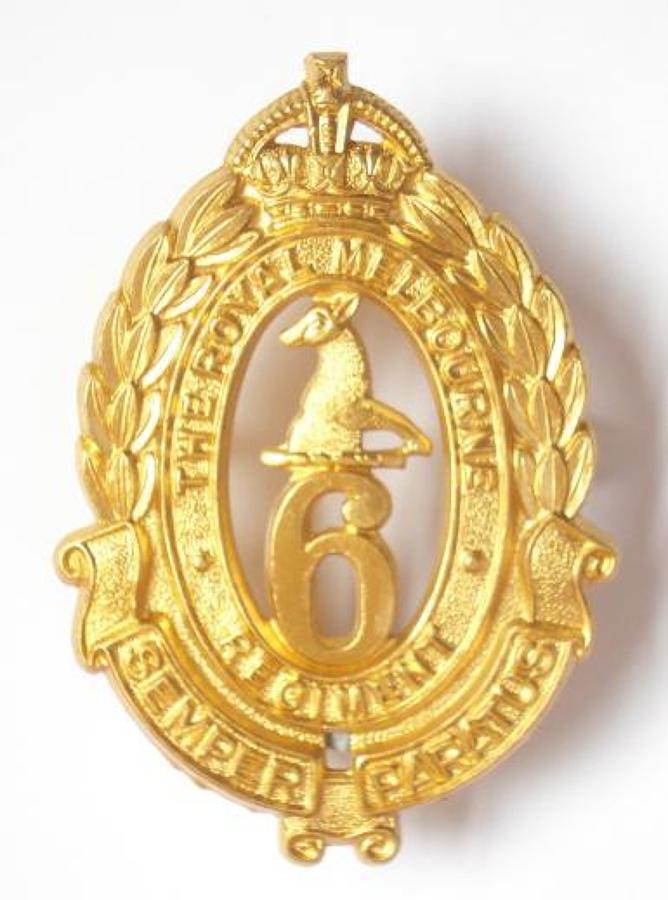 6th Australian Infantry Bn slouch hat badge