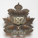 187th (Central Alberta) Bn CEF Officer badge - picture 1
