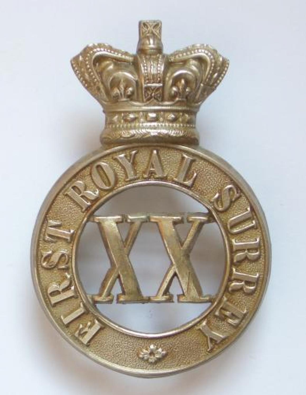 1st Royal Surrey Militia Victorian glengarry