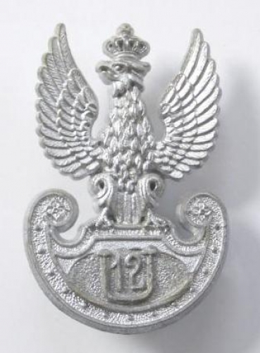 Polish 12th Ulans rare WW2 plastic badge