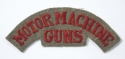 MOTOR MACHINE / GUNS rare WW1 cloth title - picture 1