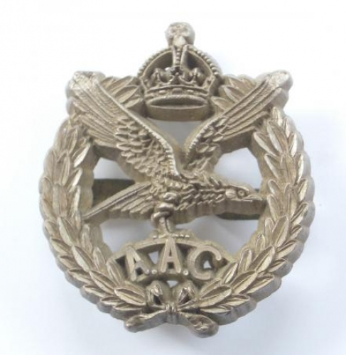 Army Air Corps WW2 plastic economy cap badge