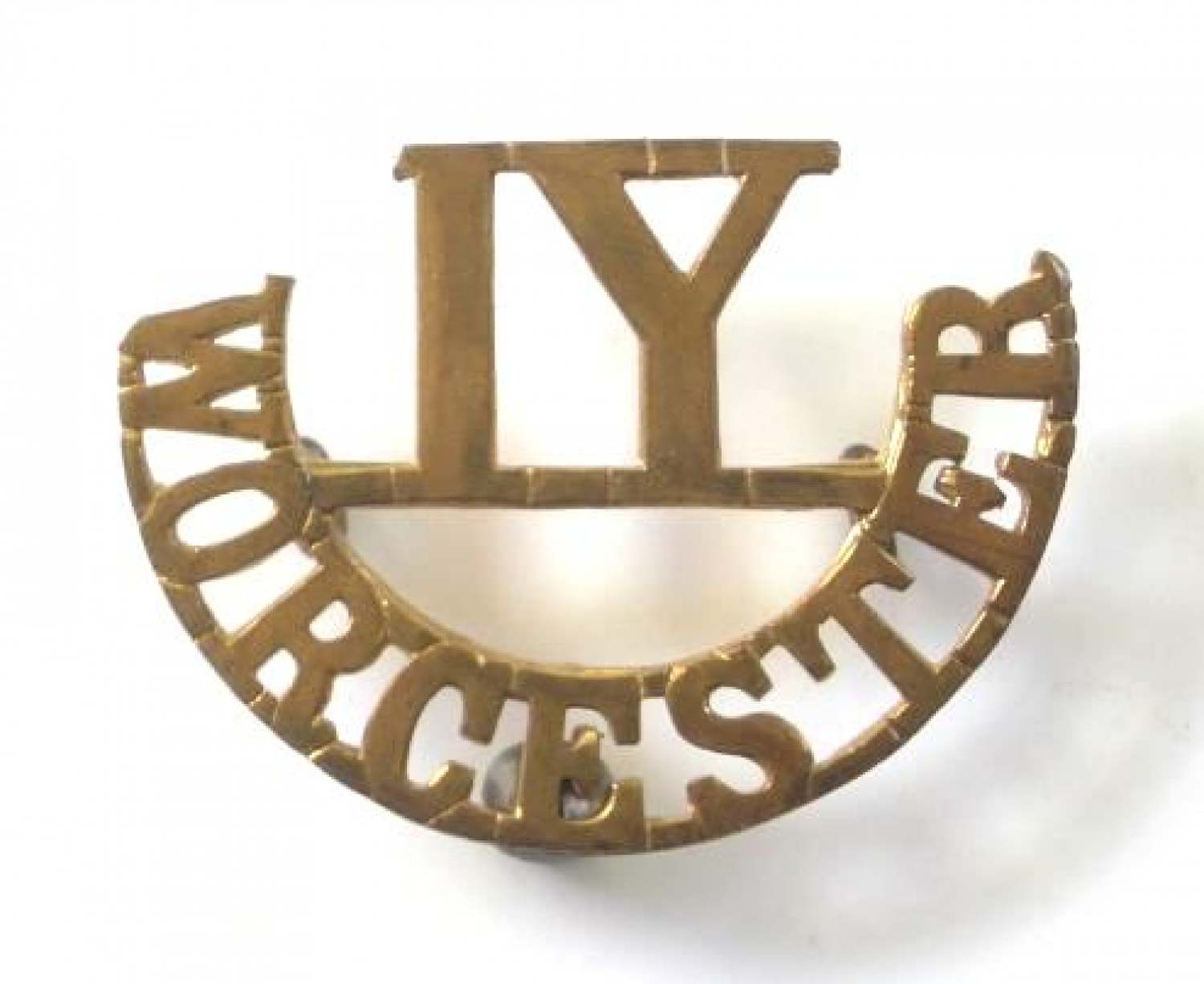 IY / WORCESTER brass Imperial Yeomanry title