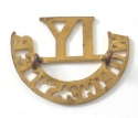 IY / WORCESTER brass Imperial Yeomanry title - picture 2
