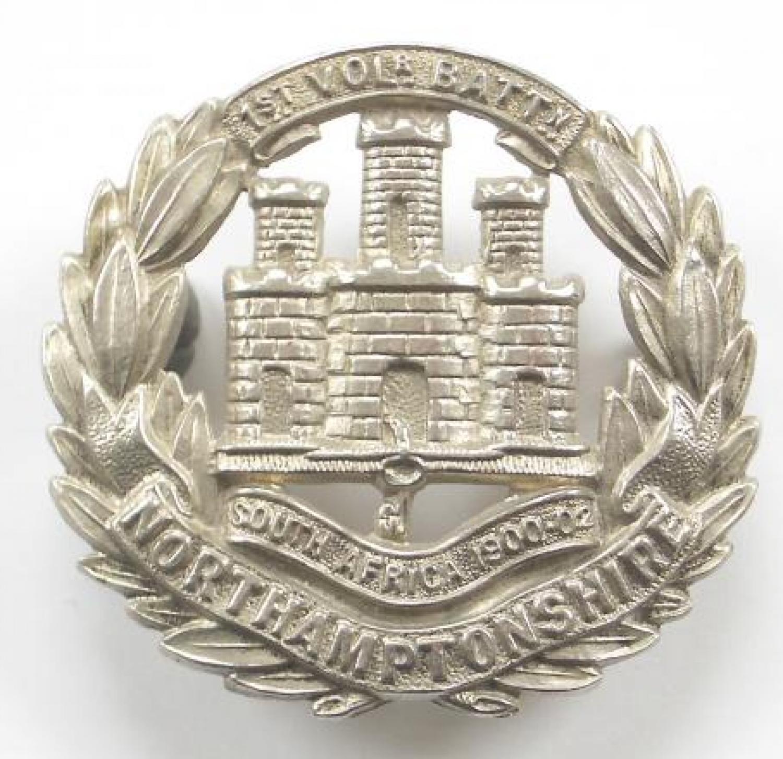 1st VB Northamptonshire Regiment cap badge