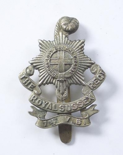 1st VB Royal Sussex Regiment OR's cap badge
