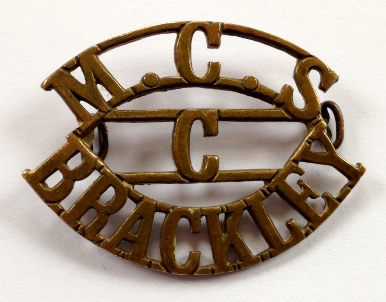 M.C.S. / C / BRACKLEY shoulder title