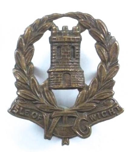 Isle of Wight VTC scarce cap badge