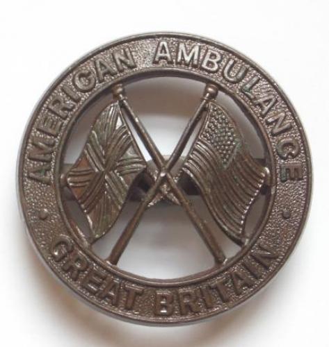 WW2 American Ambulance Great Britain badge