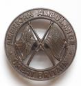 WW2 American Ambulance Great Britain badge - picture 2