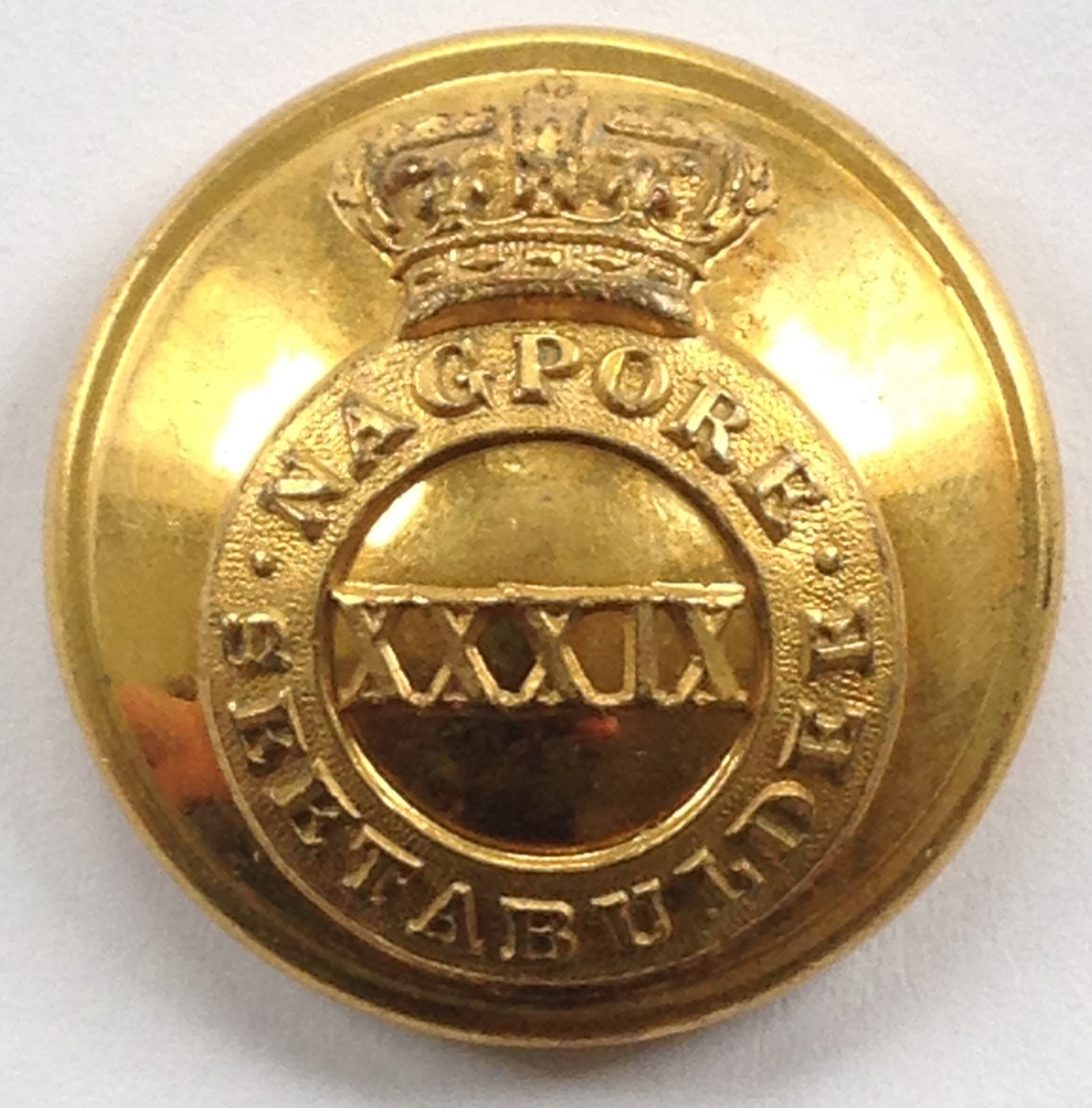 39th Madras Native Infantry Officer button