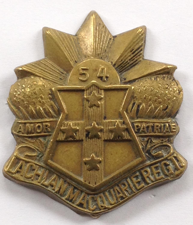 Australian 54th Infantry Bn slouch hat badge