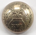 16th Light Dragoons Officer's button - picture 1
