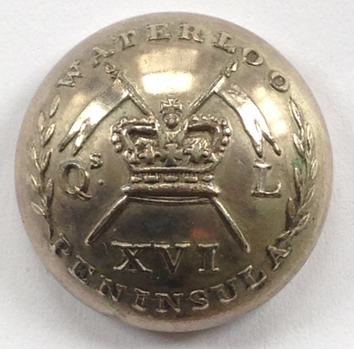 16th Light Dragoons Officer's button
