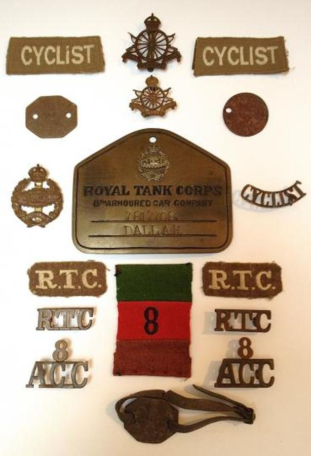 Cyclist / 8th Armoured/ Tank Corps