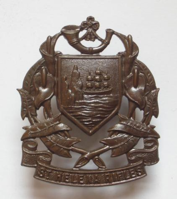 St Helena Rifles Officers OSD Bronze Cap Badg