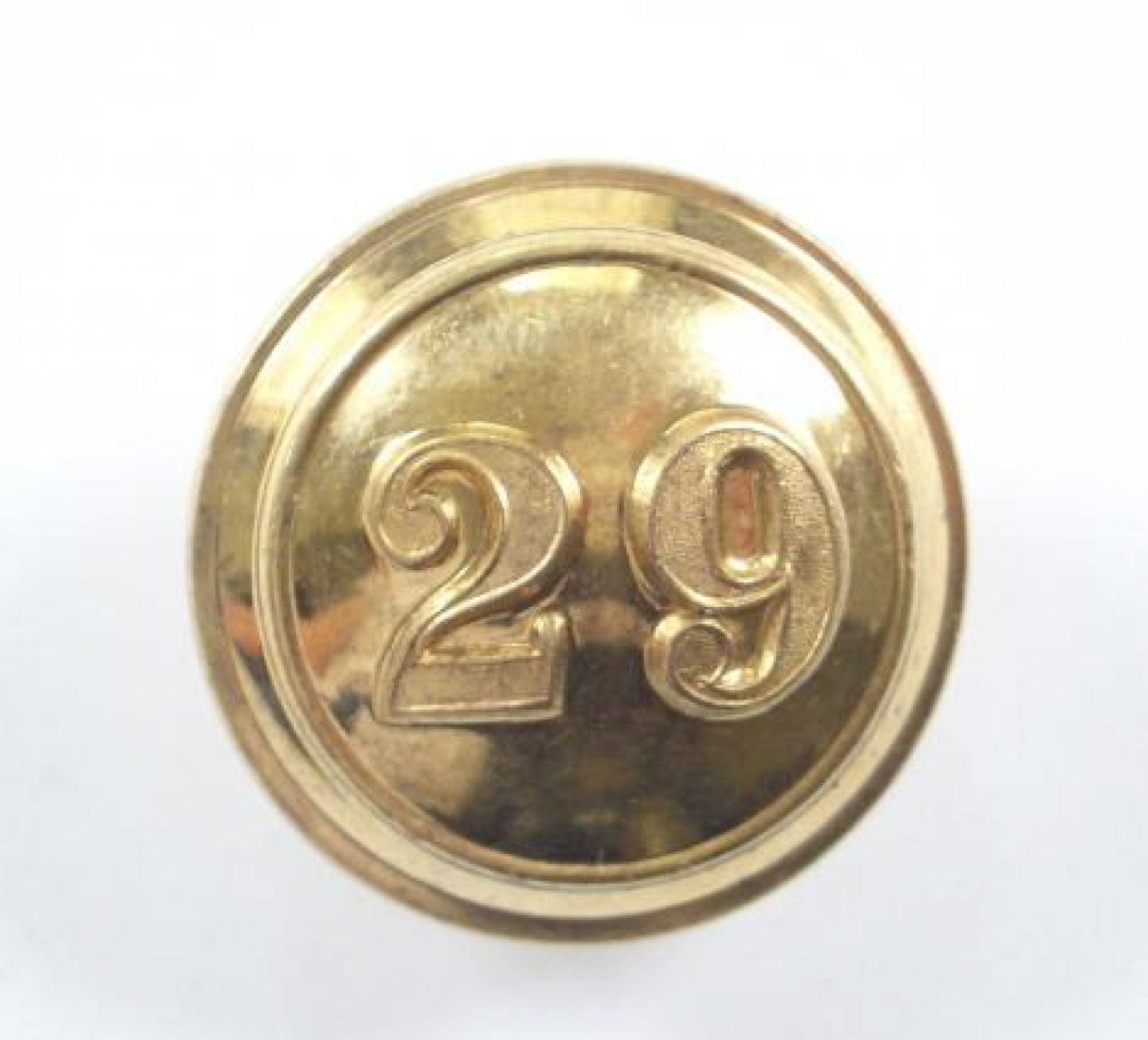 29th (Worcestershire) Foot gilt tunic button