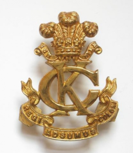Kings Colonials Officer's gilt badge
