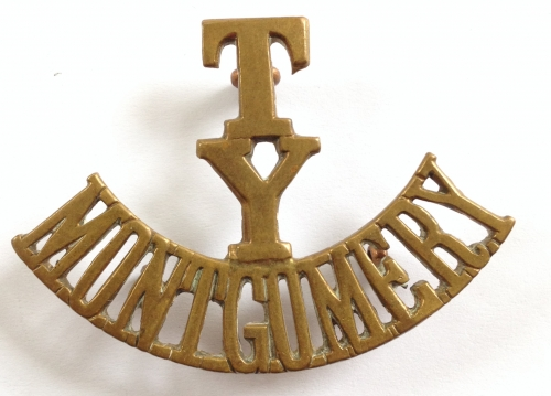 T/Y/MONTGOMERY Welsh shoulder title
