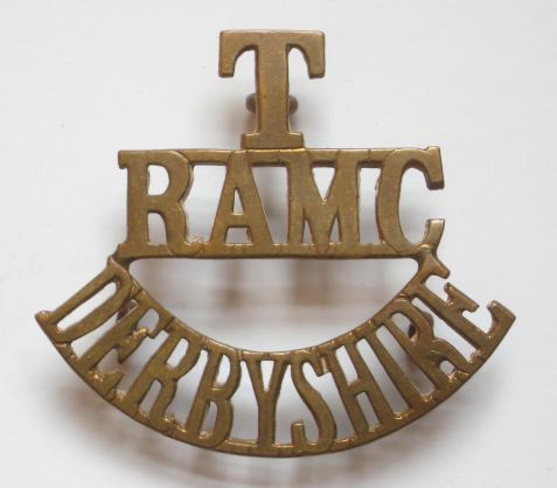 T/RAMC/DERBYSHIRE shoulder title