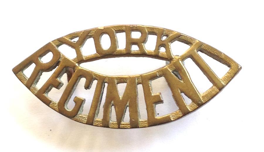 YORK REGIMENT shoulder title