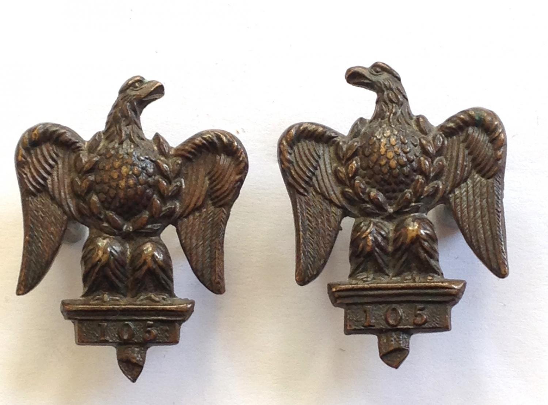 Royal Dragoons pair of collar badges