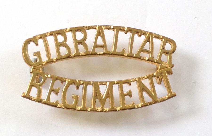 GIBRALTAR REGIMENT shoulder title