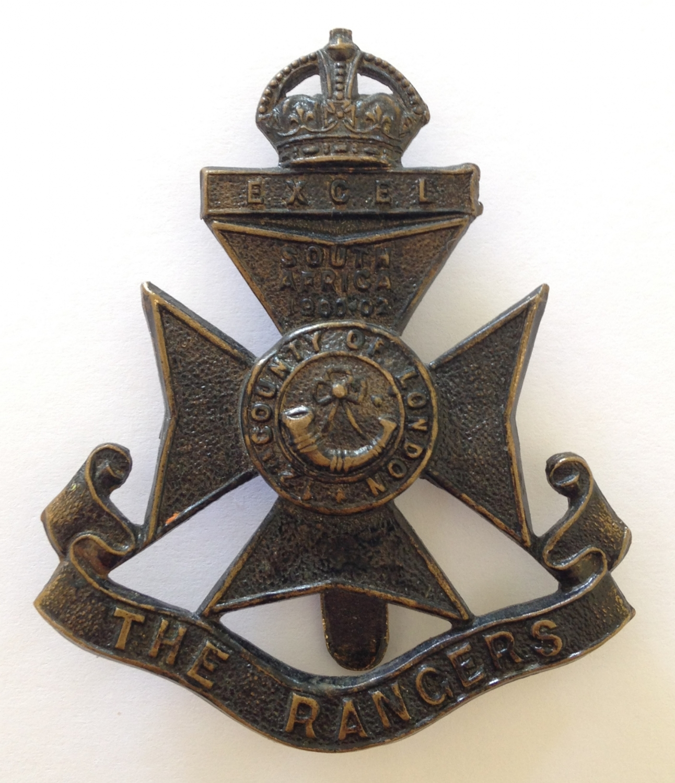 12th London Rangers cap badge