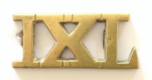 IXL cast brass 9th Lancer title