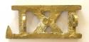 IXL cast brass 9th Lancer title - picture 2
