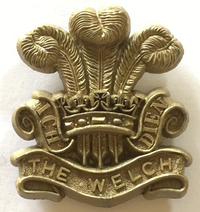 Welch Regiment WW2 plastic badge by Stanley
