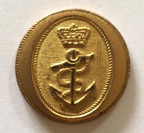 Royal Navy  fine gilt button c1795-1812