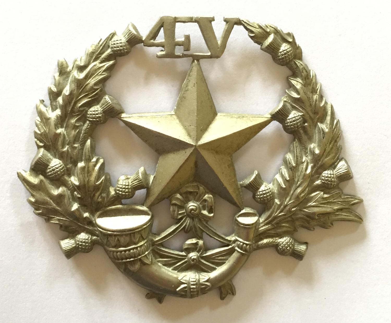 4th VB Cameronians glengarry badge