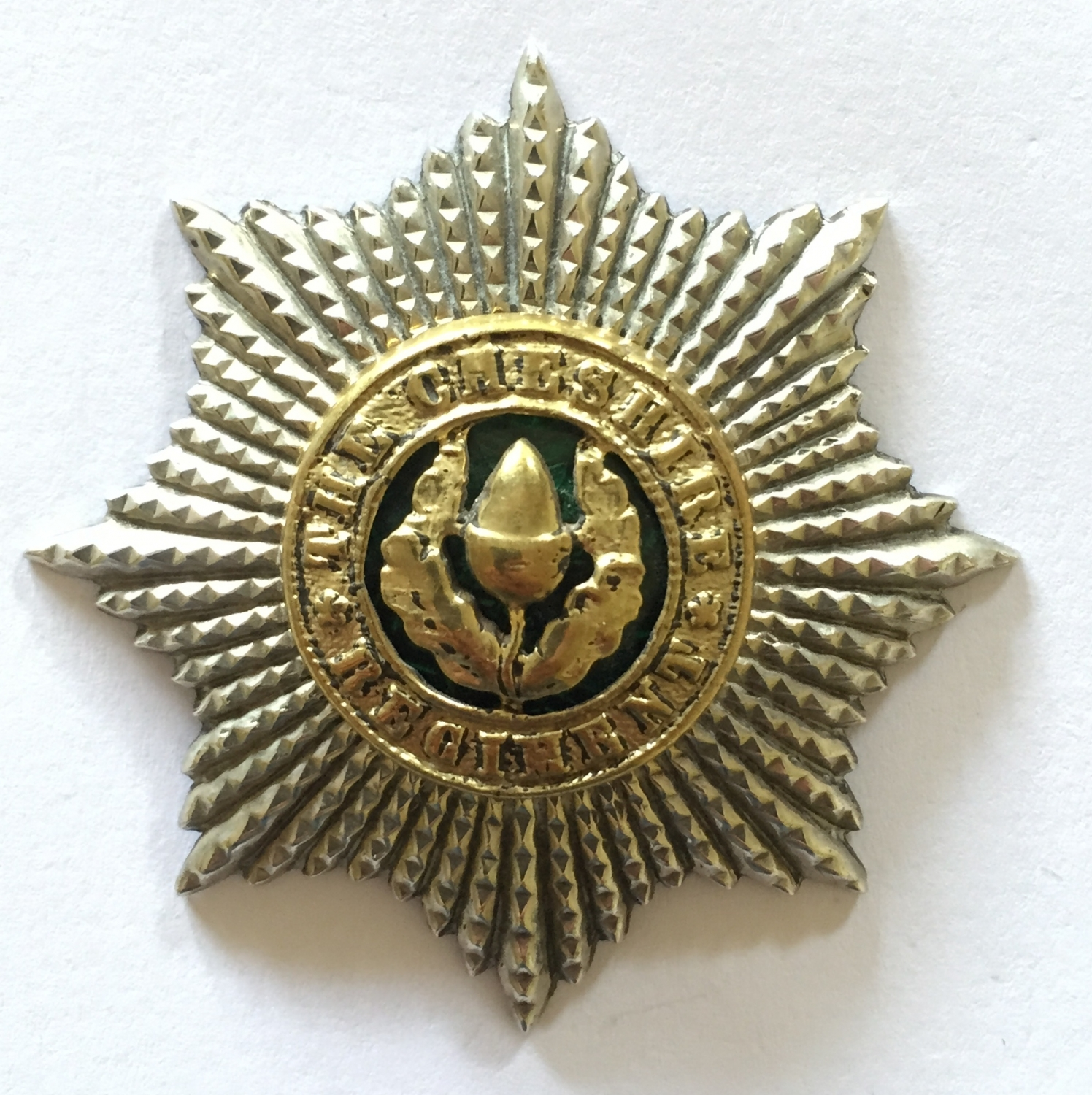 Cheshire Regiment Officer cap badge