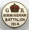 WW1 Birmingham Battalion 1914 lapel badge - picture 1