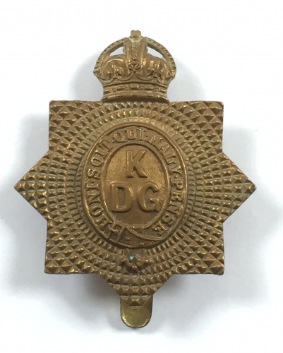 King's Dragoon Guards all brass cap badge