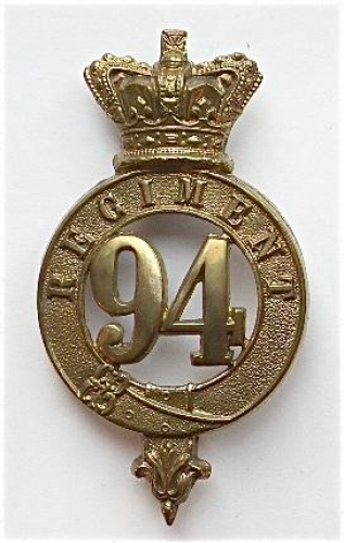 94th Foot glengarry badge circa 1874-81.