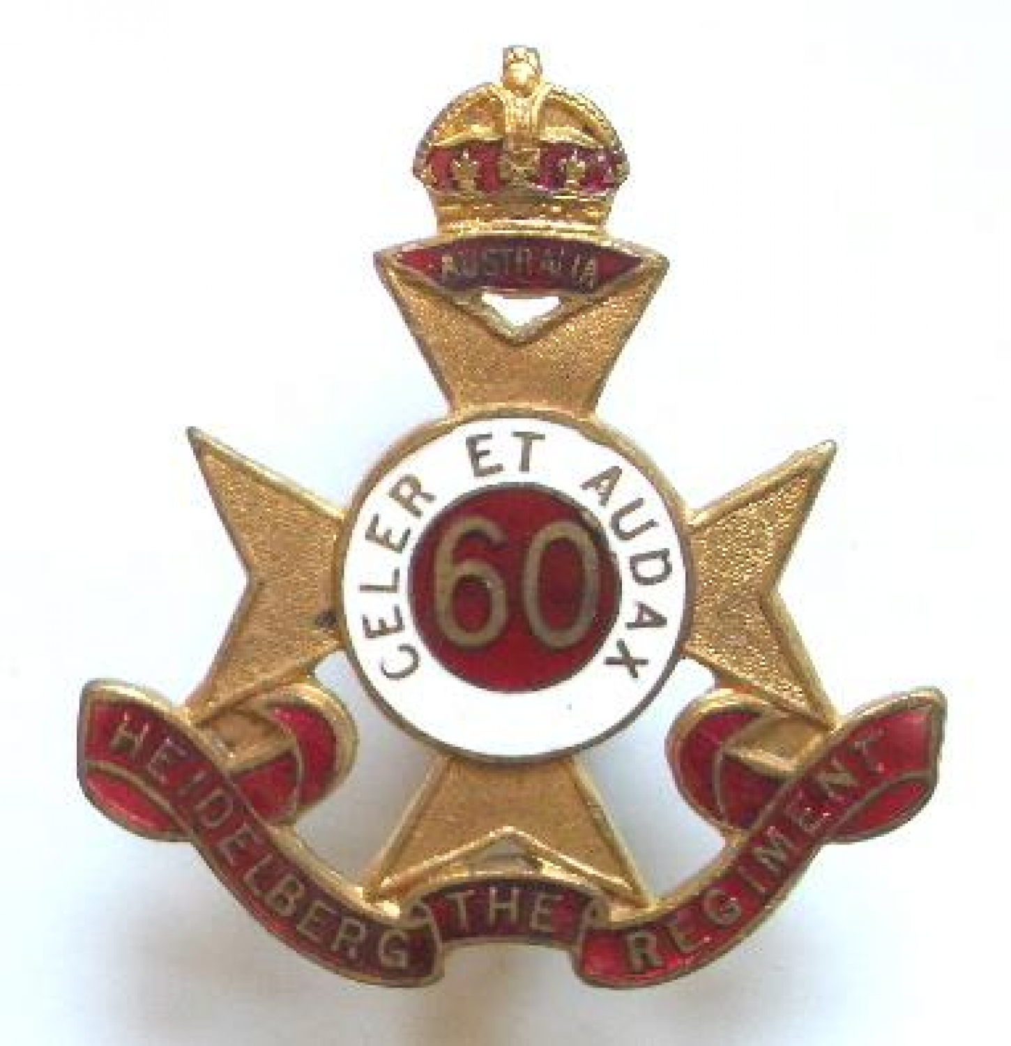 Australian 60th Infantry Bn WW2 hat badge