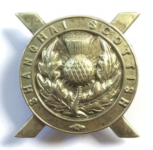 Shanghai Scottish scarce glengarry badge
