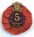 Boer War 5th Imperial Yeomanry Rosette - picture 1