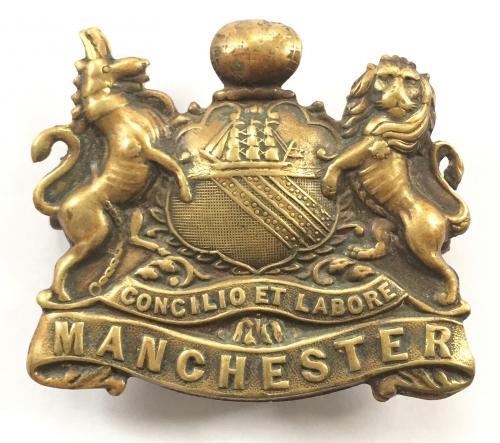 """Manchester Regiment """"Pals"""" WW1 cap badge."""