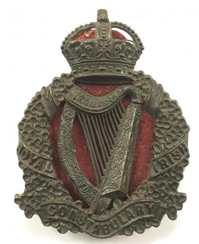 Royal Irish Constabulary police helmet plate